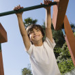 Stock Photo: Little Boy On Jungle Gym