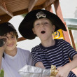 Stock Photo: Little Boy Playing Pirate