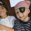 Little Boys Playing Pirate - Stock Photo