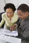 Accountant with Client — Stock Photo