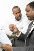 Man Talking With Accountant — Stock Photo
