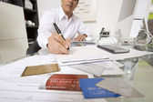 Businessman Working At Desk — Photo