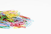 Heap Of Multicolored Paperclips — Stock Photo