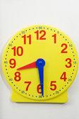 Yellow Time Teaching Clock — Stock Photo