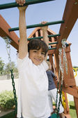 Little Boy On A Jungle Gym — Stock Photo