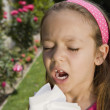 Little Girl Sneezing — Stock Photo #21830249