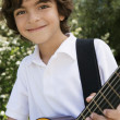 Boy Playing Guitar — Stockfoto