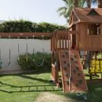 Play Equipment In Backyard — Stock Photo