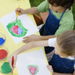 Stock Photo: Kids Painting Outside