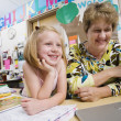 Teacher With Elementary Student — Foto Stock