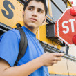 High School Boy With MP3 Player — Stock Photo #21831591