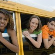 Teenagers On School Bus — Stock Photo