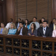 Jury Box In Courtroom - Stockfoto