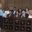 Prosecutor With Jury In Court - Stock Photo