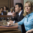 Defense Lawyer With Client In Court — Stockfoto #21832835