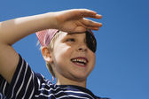 Little Boy Playing Pirate — Stock Photo
