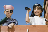 Little Boys Playing Pirate — Stock Photo