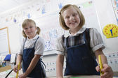 Elementary Students In Art Class — Stock Photo