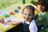 Children Painting — Stock Photo