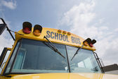 Front Of School Bus — Stock Photo