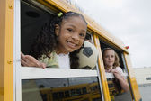 Elementary Students On School Bus — Stock Photo