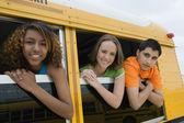 Teenagers On School Bus — Stock Photo