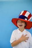 Patriotic Boy — Stock Photo