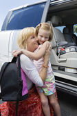 Grandmother Hugging Daughter — Stock Photo
