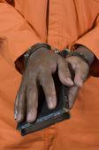 Karnego biorąc pod przysięgą w sądzie — Zdjęcie stockowe
