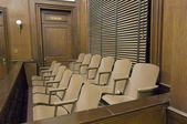 Juries Seating In Court — Stock Photo