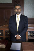 Solicitor Standing In Courtroom — Stock Photo