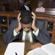 Depressed Lawyer Sitting In Court — Stock Photo #21861591
