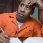 Contemplative Criminal In Court — Stock Photo #21861725