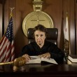 Judge Sitting In Courtroom — Stock Photo #21861859
