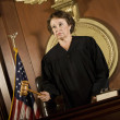 Stock Photo: Female Judge Forming Judgment