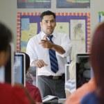 High School Teacher Teaching In Class — Stock Photo
