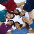 Friends Forming A Huddle — Stock Photo