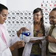 Teacher and Students in Science Class — Stock Photo #21862273