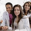 Students Working Together In Science Class — Stock Photo