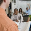 Teacher With Students In Science Class — Stock Photo