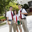 Teenage Friends In Uniform — Stock Photo
