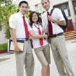High School Friends In Uniform — Stock Photo #21862415