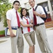 High School Friends In Uniform — Stock Photo