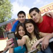 Stock Photo: High School Students Taking Self Portrait
