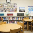 High School Library With Arranged Tables And Chairs — Stock fotografie