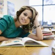 Female Student Studying In Library — Stock Photo #21862567