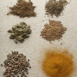 Various Exotic Spices - Foto Stock