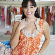 Beautiful Hispanic Woman Shopping — Stock Photo