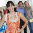 Happy Customers In Clothing Store — Stock Photo #21862779