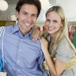 Happy Couple Shopping — Stock Photo #21862783